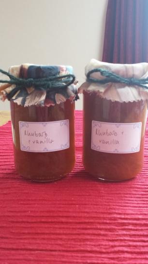 Rhubarb and vanilla jam