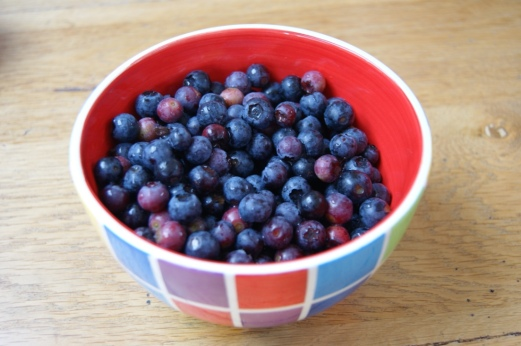 Blueberries for tart